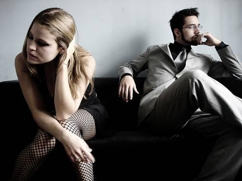 pareja con problemas